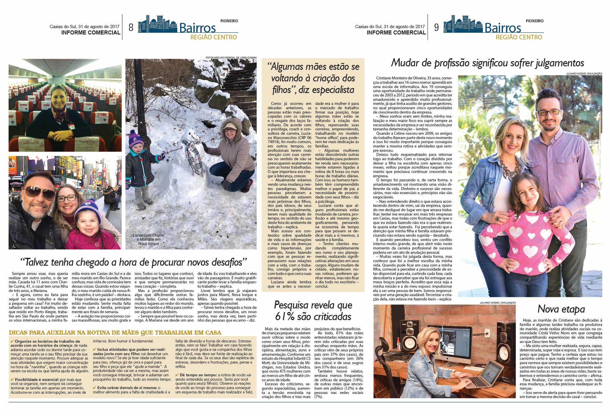 Página 8 e 9 - Jornal Pioneiro de Caxias do Sul