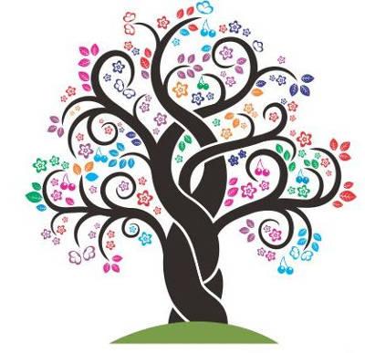 Imagem Árvore Identidade Visual Luciane Vecchio